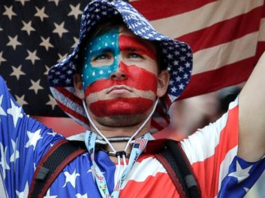 Photos: The Many Faces of a US Fan During the World Cup