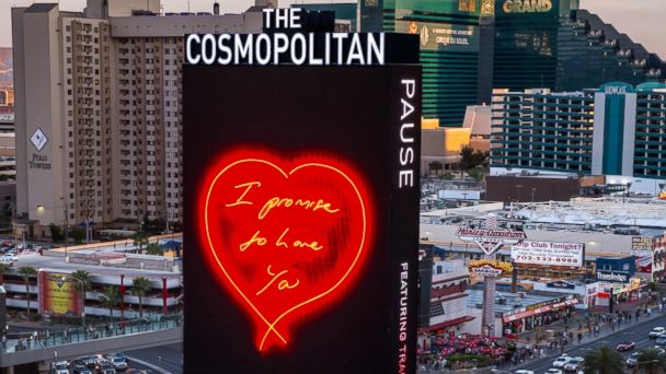 AP vegas art love tk 140331 16x9 608 Whats With the Constant Display of Love on the Las Vegas Strip?