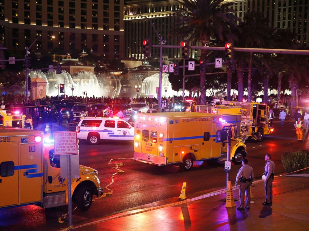 PHOTO:Police and emergency crews respond to the scene of an incident along Las Vegas Boulevard, Dec. 20, 2015, in Las Vegas.