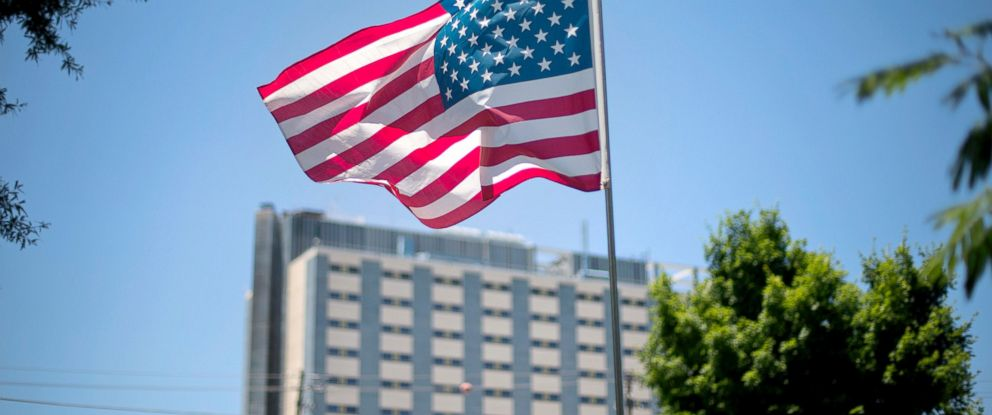 PHOTO: An American flag flies in front of the Atlanta VA Medical Center in Atlanta.