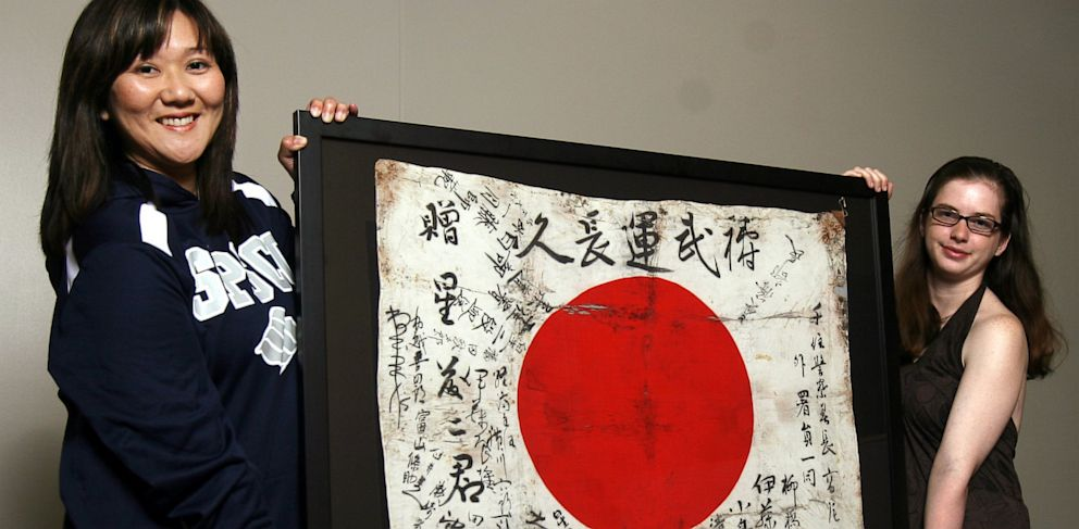 PHOTO: World War 2 Japanese Flag