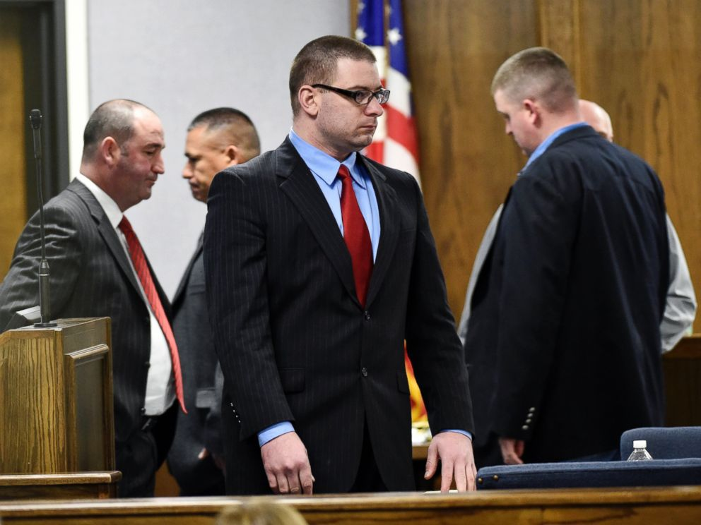 PHOTO:Former Marine Cpl. Eddie Ray Routh stands during his capital murder trial at the Erath County, Donald R. Jones Justice Center in Stephenville Texas, Feb. 24, 2015.