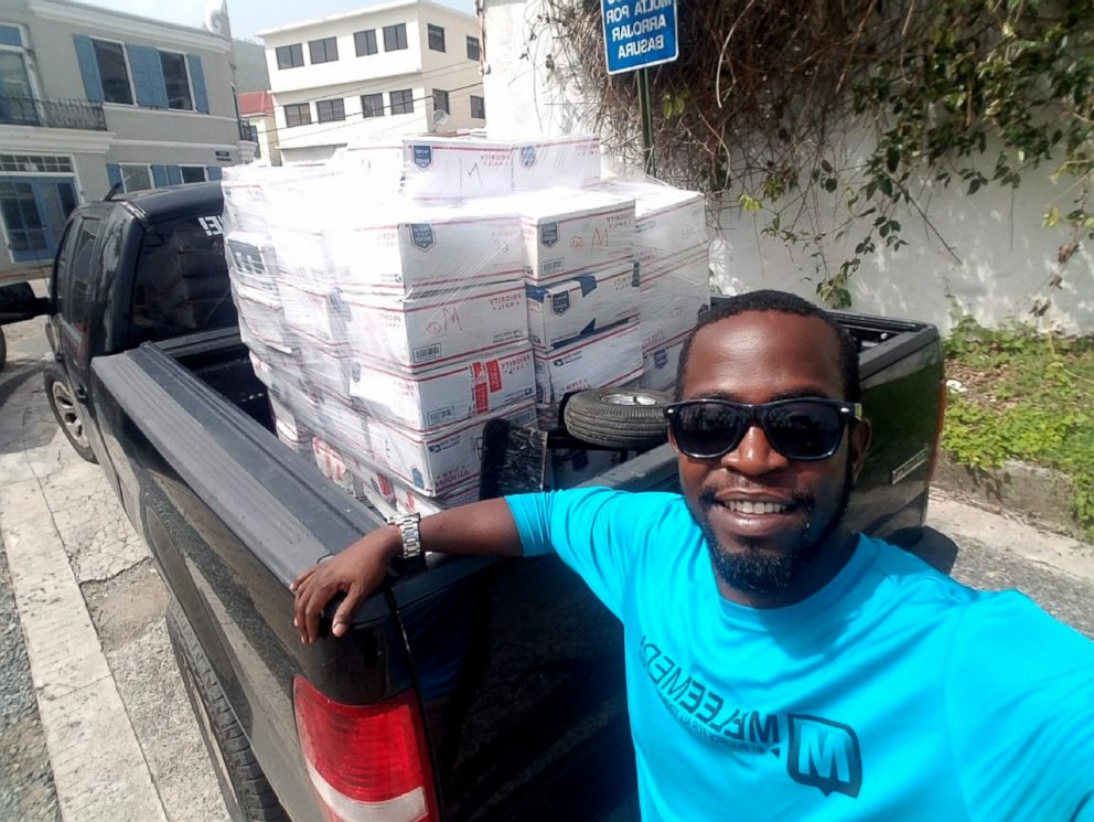 PHOTO: Vernon Araujo, the Director of Development at the Family Resource Center in the Virgin Islands, has helped distribute thousands of boxes.
