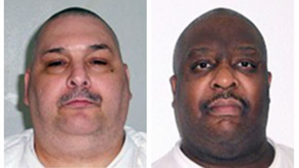 PHOTO: Arkansas Department of Correction photos show death-row inmates Jack Jones, left, and Marcel Williams.