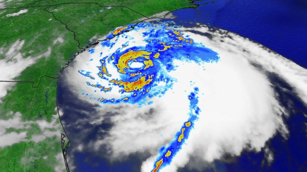 PHOTO: Arthur, brewing over the Atlantic Ocean, reached hurricane strength July 3, 2014.