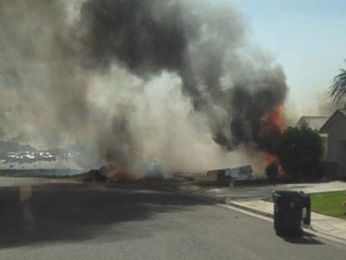 Jet Crashes Into Neighborhood, and Miraculously No One Dies