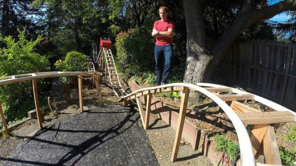 CN Mercury Will Pembles Coaster 01 16x9 608 Calif. Father Son Team Build Roller Coaster In Their Backyard