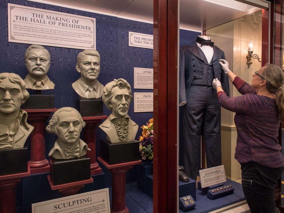 PHOTO: A display featured in Walt Disney Parks & Resorts Hall of Presidents exhibit at Magic Kingdom Park in Orlando.