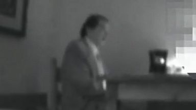 PHOTO: Surveillance video released by the Department of Justice purportedly shows nuclear scientist Pedro Mascheroni speaking with an undercover FBI agent who he believes is a Venezuelan intelligence officer.