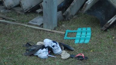 PHOTO: Scene from a beach house deck collapse in Emerald Isle, North Carolina on July 4, 2015.