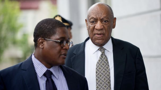 PHOTO: Bill Cosby, right, departs from the Montgomery County Courthouse in Norristown, Pa., June 15, 2017.