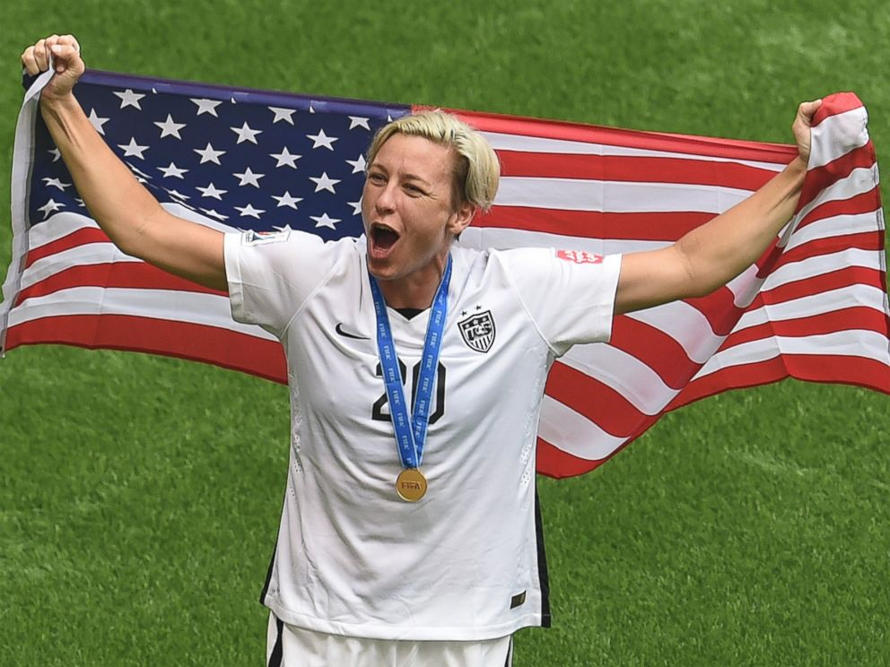Photo Abby Wambach Of The Usa Celebrates Their Victory Over Japan At The End Of