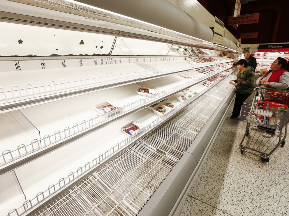 PHOTO: A Publix grocery stores depleted shelves are seen ahead of a predicted winter storm to hit metro Atlanta, in Decatur, Ga., Feb. 11, 2014.
