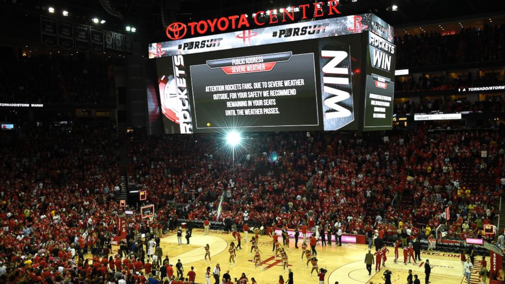 Inside The Houston Basketball Arena Where Fans Waited Out