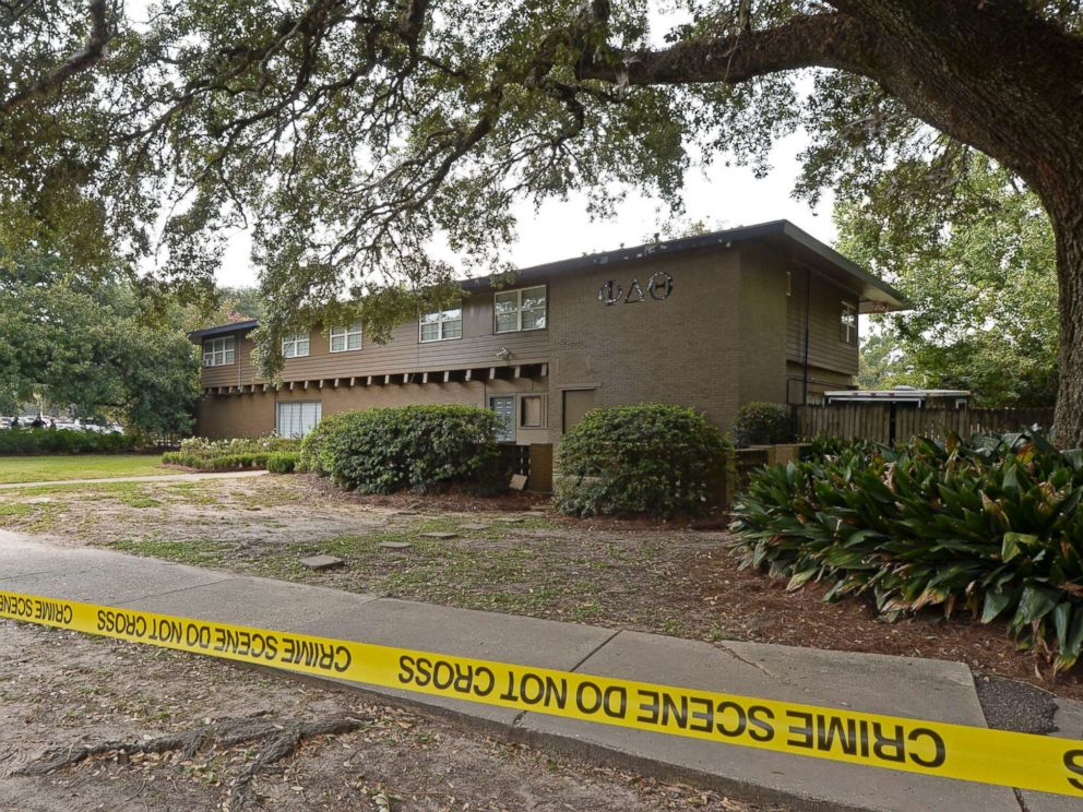 PHOTO: Louisiana State University Police are investigating a possible hazing incident at an on campus fraternity house, Phi Delta Theta, after a student was brought to the hospital overnight and later died, Sept. 14, 2017.