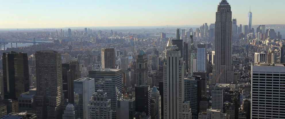 PHOTO: Midtown Manhattan and Brooklyn seen on Nov. 7, 2016 in New York City. The city is on a heightened state of alert after federal authorities warned of a possible terrorist attack before the U.S. election.