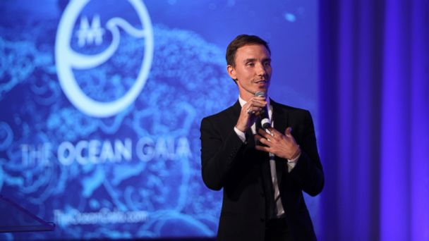PHOTO: Filmmaker and underwater photographer Rob Stewart speaks onstage at The Ocean Gala, on Dec. 3, 2016, in San Francisco.