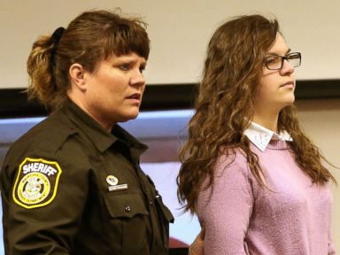 PHOTO: Anissa Weier, accused of being involved in the stabbing of another girl related to the Slenderman online story, is led into the courtroom on Dec. 22, 2016, in Waukesha, Wisconsin.