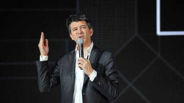 PHOTO: Travis Kalanick delivers a speech at the Third Netease Future Technology Conference in this June 28, 2016 file photo in Beijing.