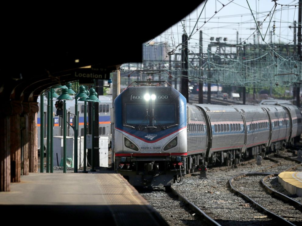 PHOTO: Amtrak Train 111, which was the first Northeast Regional train out of New York City, arrives at Union Station, May 18, 2015, in Washington, DC.