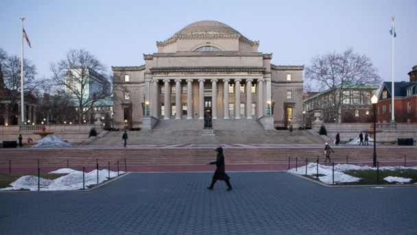 PHOTO: Columbia University campus in New York City, Jan. 7, 2014.
