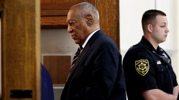 PHOTO: Bill Cosby enters the courtroom at the Montgomery County Courthouse in Norristown, Pa., June 12, 2017.