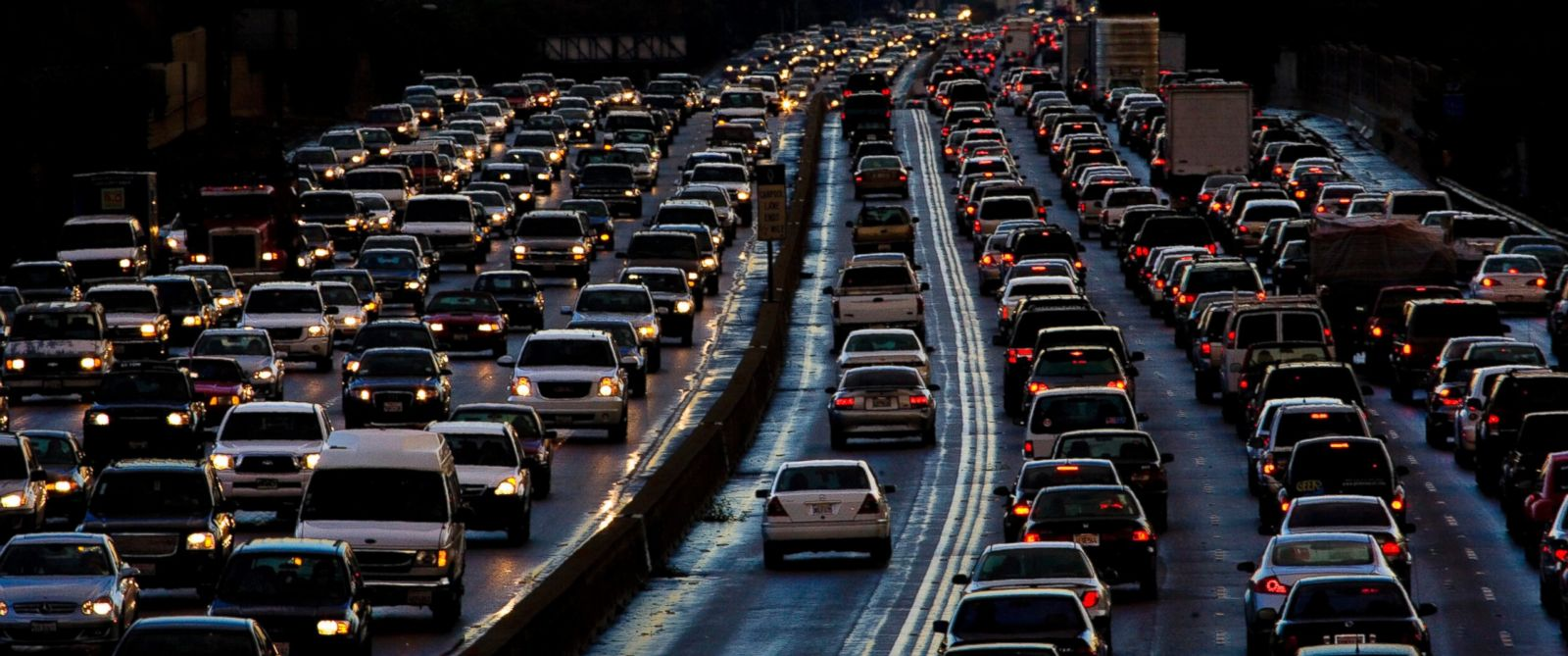 PHOTO: Evening traffic on Interstate 405 in Los Angeles is pictured in this undated stock photo.