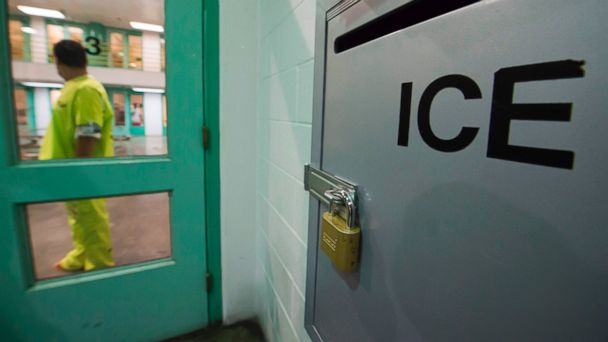 PHOTO: An immigration detainee stands near a U.S. Immigration and Customs Enforcement (ICE) grievance box in the high security unit at the Theo Lacy Facility, March 14, 2017 in Orange, California.