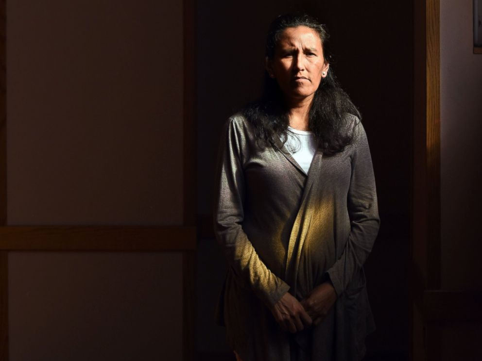 PHOTO: Jeanette Vizguerra, an undocumented mother of four, poses in the First Unitarian Society Church of Denver in Denver, Colorado, on Feb. 16, 2017.