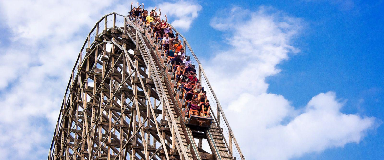 PHOTO: The El Toro wooden roller coaster at Great Adventure Park.