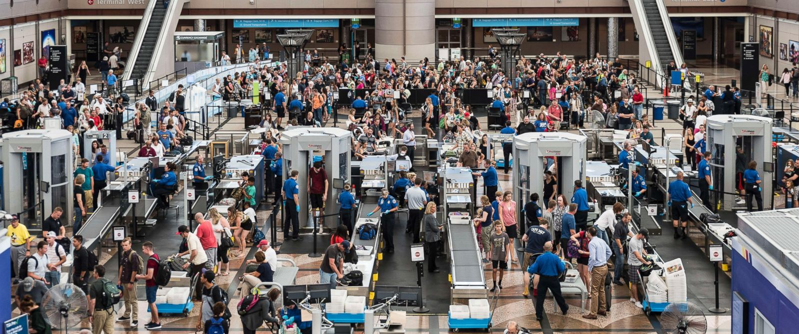 PHOTO: The TSA security check at Denver international airport is seen here.