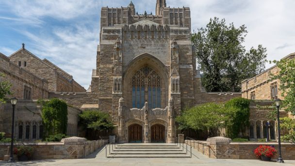 PHOTO: The Sterling Memorial Library is the centerpiece of the library system at Yale University, New Haven, Connecticut.
