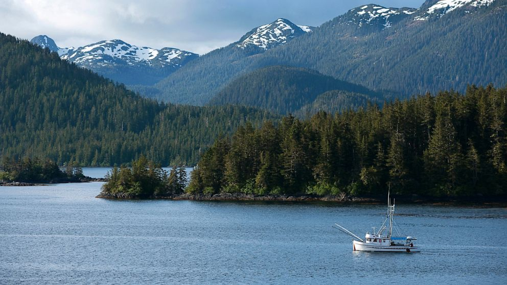 PHOTO: The U.S. Coast Guard has suspended the search for the third of three boaters from a sunken boat near Baranof Island, Alaska.