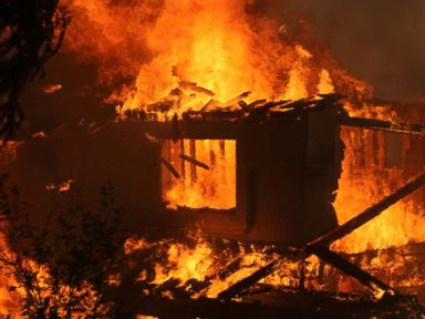 Photos: Spreading Brush Fires Engulfing Homes