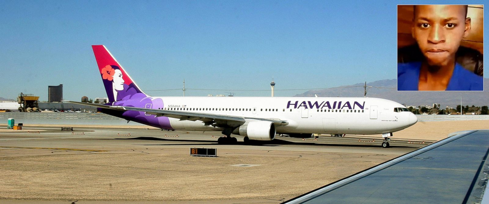 PHOTO: A Hawaiian Airlines jet taxies out to the runway at Phoenix Sky Harbor International Airport in Phoenix, Feb. 14, 2006. | Yahya Abdi, 15, somehow survived after stowing away in the wheel well of an April 2014 flight.