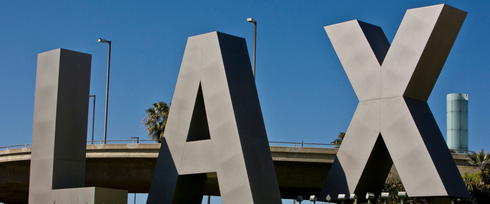 PHOTO: The entrance to Los Angeles International Airport (LAX) is seen on April 14, 2012 in Los Angeles, California.