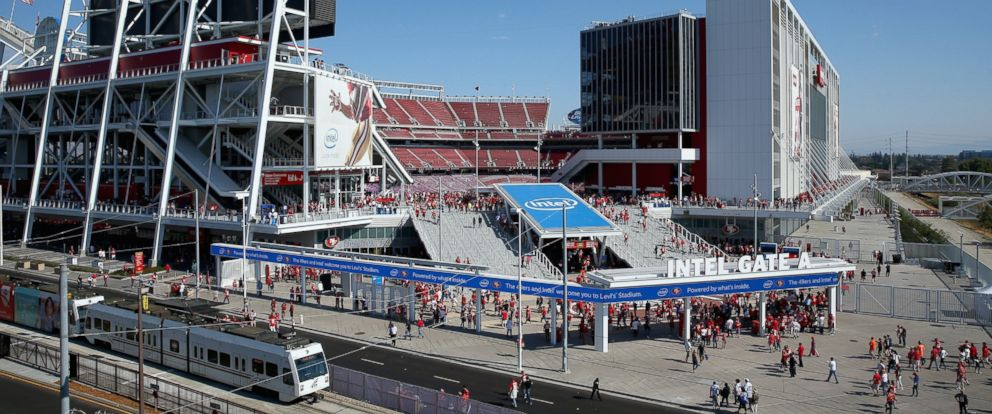 PHOTO:A general view of the exterior of Levis Stadium is seen prior to the start of the game, Sept. 14, 2014 in Santa Clara, Calif.