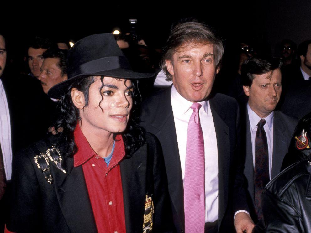 PHOTO: Michael Jackson and Donald Trump at Donald Trumps Taj Mahal Casino opening on April 5, 1990 in Atlantic City, New Jersey.