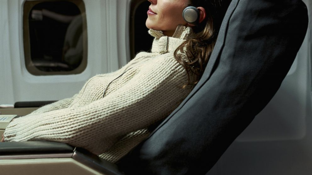 PHOTO: A woman is seen reclining in an airplane seat in this stock photo.