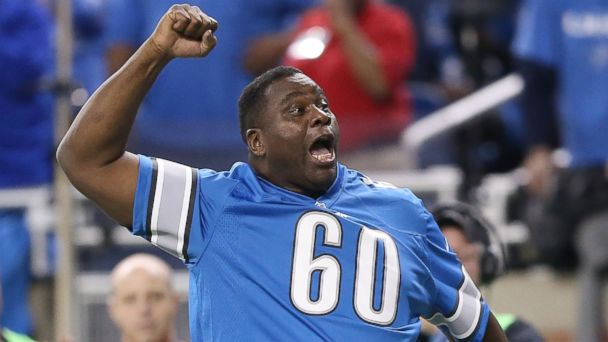 "PHOTO: Former Detroit Lions player Al ""Bubba"" Baker is pictured during a Detroit Lions game against the Baltimore Ravens on Dec. 16, 2013 in Detroit, Mich."
