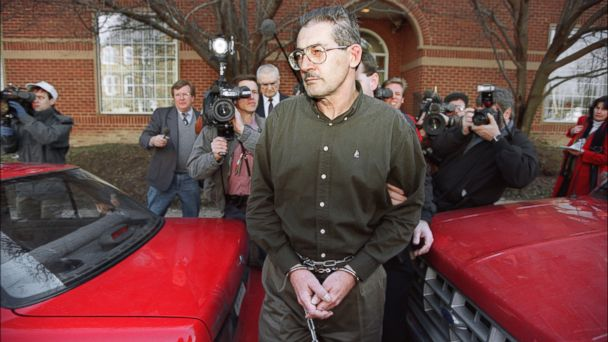 PHOTO: Former senior CIA office Aldrich Hazen Ames is led from U.S. Federal Courthouse in Alexandria, Feb 22, 1994, after being arraigned on charges of spying for the former Soviet Union.