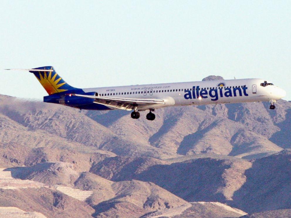 PHOTO: An Allegiant Air jet at McCarran International Airport, Sept. 6, 2005, in Las Vegas.