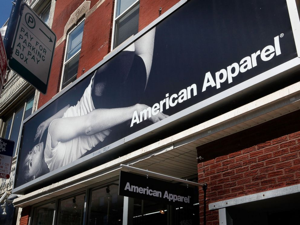 PHOTO: A sign hangs above an American Apparel store in Chicagos Wicker Park neighborhood, Sept. 4, 2009.