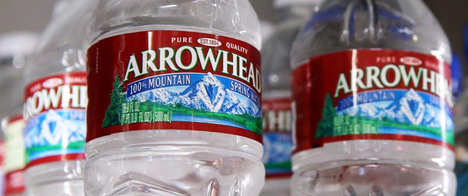 PHOTO: Bottles of Arrowhead water are displayed on Aug. 20, 2014 in San Rafael, Calif.