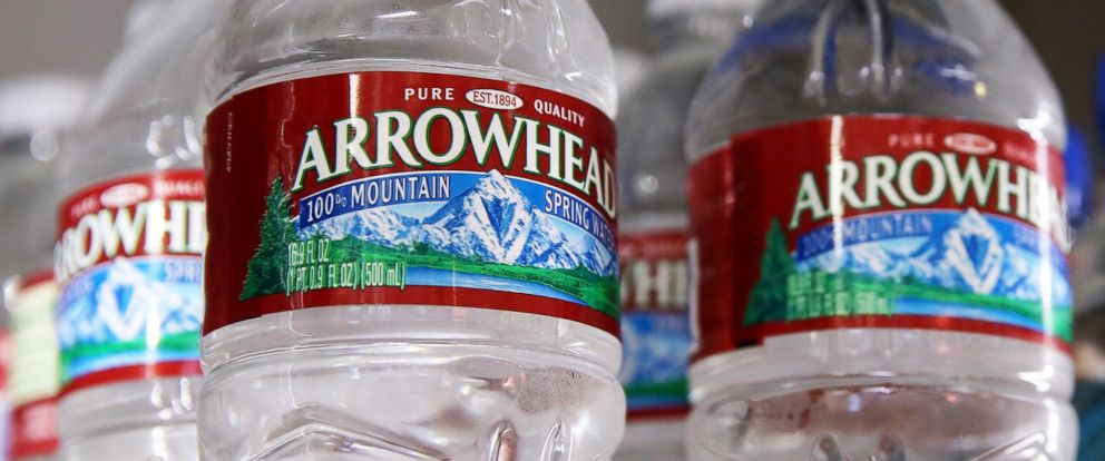 PHOTO: Bottles of Arrowhead water are displayed on Aug. 20, 2014 in San Rafael, Calif.