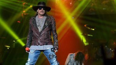 "PHOTO: Singer Axl Rose of Guns N Roses performs at The Joint inside the Hard Rock Hotel & Casino during the opening night of the bands second residency, ""Guns N Roses - An Evening of Destruction. No Trickery!"" May 21, 2014 in Las Vegas."