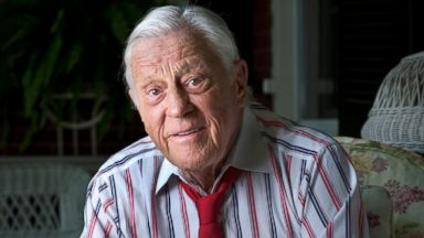 PHOTO: Ben Bradlee, executive editor of The Washington Post during the Watergate era is photographed at his home in Washington, June 3, 2012.