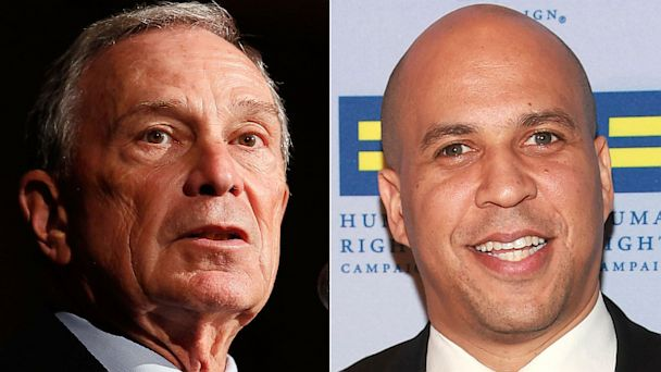 GTY bloomberg booker2 tk 131007 16x9 608 NYC Mayor Michael Bloombergs $1 Million Bet on Cory Booker