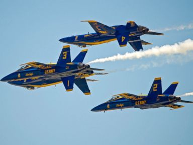 PHOTO: U.S. Navys Blue Angels perform their precision aerobatics over the Florida Keys during the Southernmost Air Spectacular at Naval Air Station Key West, March 23, 2013, in Key West, Fla.