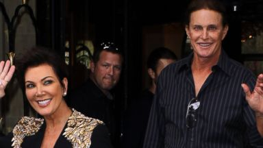 PHOTO: Kris Jenner, left, and Bruce Jenner, right, are pictured on May 22, 2014 in Paris.